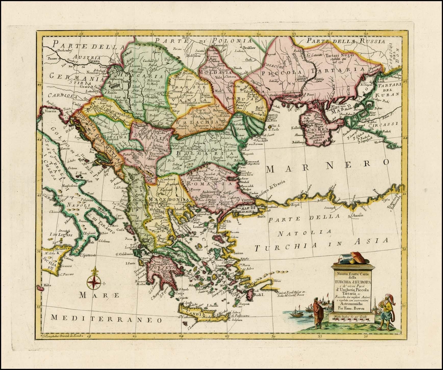 Карта 1755 года maps, балканы, картографическая подборка, картография, карты, карты Балкан