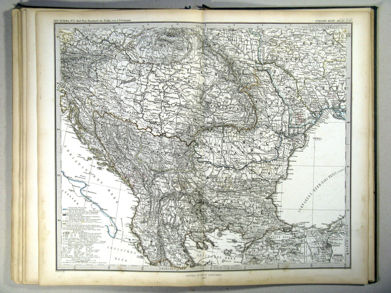 Карта Балкан, 1867 г. maps, балканы, картографическая подборка, картография, карты, карты Балкан
