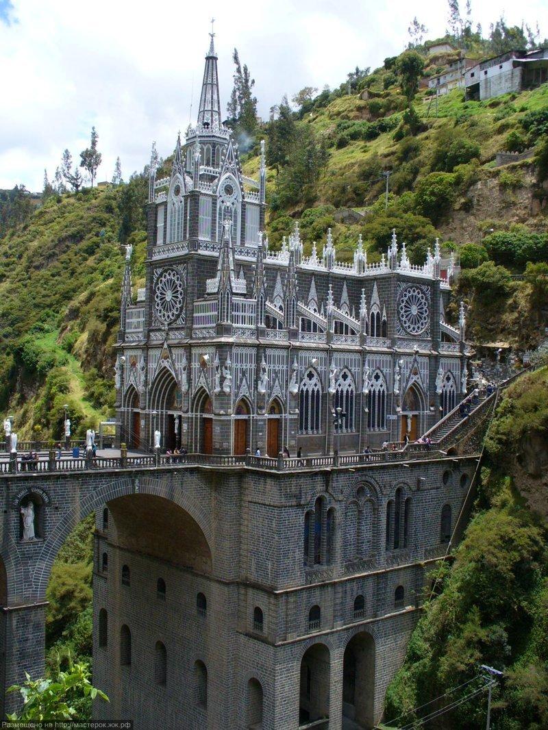 Базилика Лас-Лахас – колумбийское чудо света Лас-Лахас, базилика, колумбия, путешествия