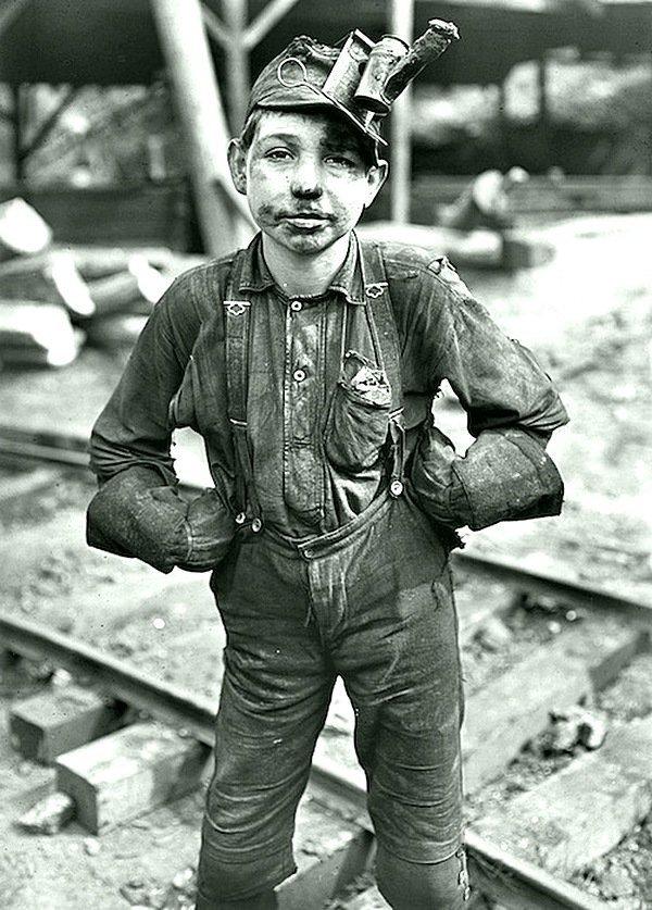Lewis Wickes Hine - Маленький шахтер, Угольная шахта, Западная Вирджиния 1908 Весь Мир в объективе, история, фотография