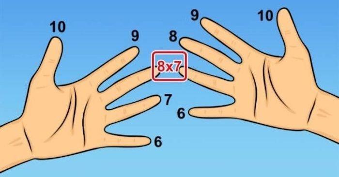 5.    Как умножать на пальцах знания, факты, хитрости