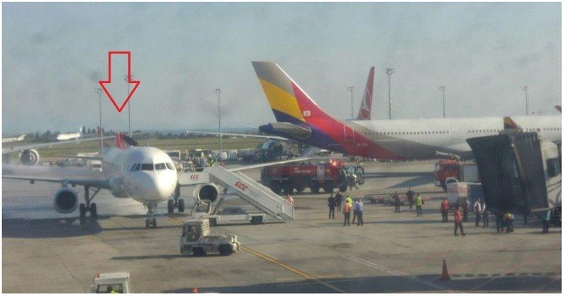 В турецком аэропорту корейский Аirbus A330 случайно снёс хвостовую часть другого самолёта ynews, авиация, аэропорт, видео, самолет, стамбул, столкновение, турция