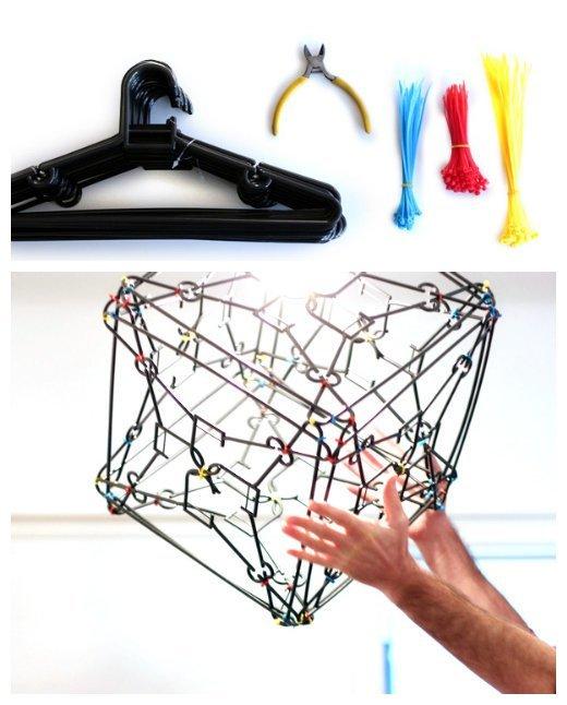 Благоустройство из подручных материалов Лайфхак, кабельная стяжка, полезности, прикол, стяжка, хитрости