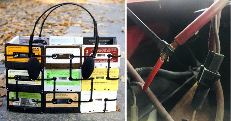 Полезности, которыми смогут насладиться обладатели кабельной стяжки Лайфхак, кабельная стяжка, полезности, прикол, стяжка, хитрости