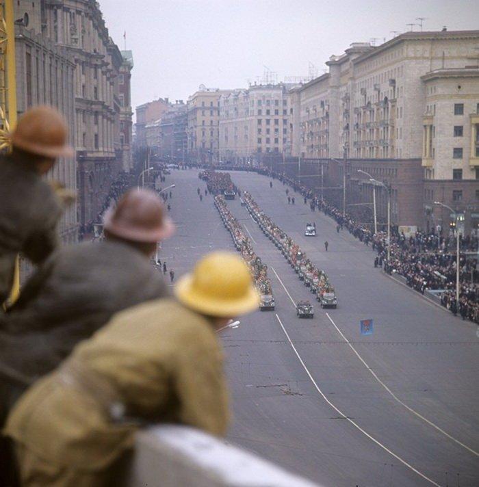Церемония захоронения останков Неизвестного солдата в Москве, 1966 год СССР, история, фотографии
