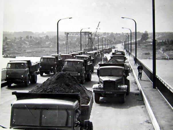 Сентябрь 1970 год.Открытие моста через реку Волгу. Город Кострома СССР, история, фотографии