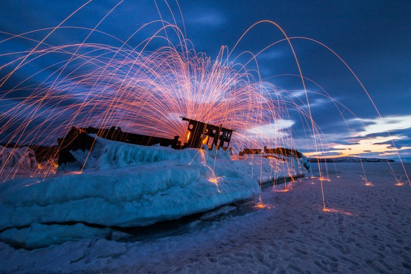 Лед и пламень Зимняя сказка, байкал, зима, красота, лед, снег, фото, фоторепортаж