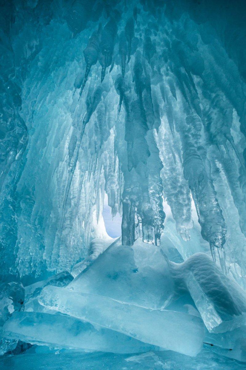 В пещере Зимняя сказка, байкал, зима, красота, лед, снег, фото, фоторепортаж