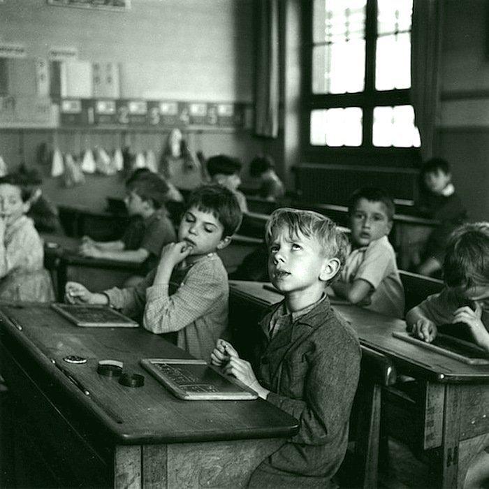 Роберт Доисно - Урок, Париж, 1956 Весь Мир в объективе, история, фотография