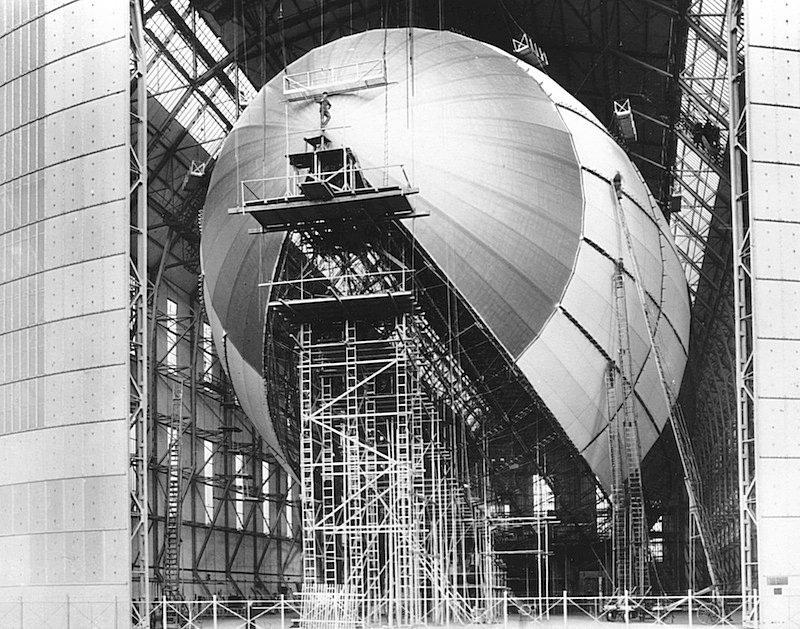 Дирижабль Гинденбург - сборка, Фридрихсхафен, Германия, 6 марта 1936 Весь Мир в объективе, история, фотография