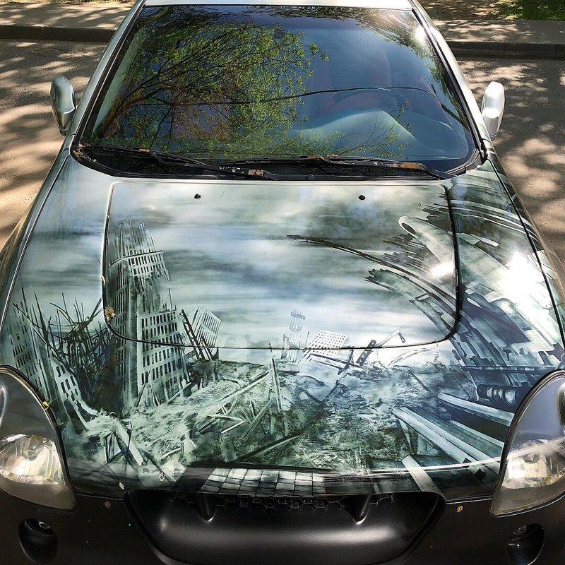 20 отличных рисунков на автомобилях автомобили, аэрография, рисунки, рисунки на авто