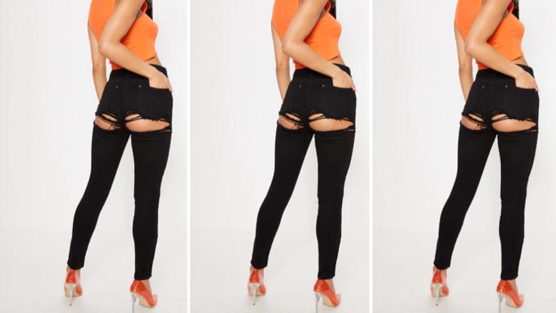Женские брюки с демонстрацией выпуклостей озадачили покупателей ynews, джинсы, мода, одежда, последний писк, рванина, уже в продаже