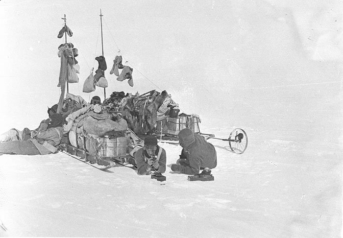 Белое безмолвие Дуглас Моусон, австралия, антарктида, изучение Антарктики, научная экспедиция, полярные исследователи, поход во льдах, фотосвидетельства