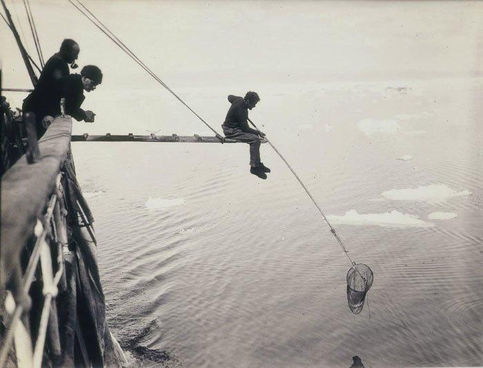 """Ловля макропланктона с борта экспедиционной шхуны """"Аврора"""" Дуглас Моусон, австралия, антарктида, изучение Антарктики, научная экспедиция, полярные исследователи, поход во льдах, фотосвидетельства"""