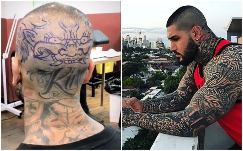 """""""Мусульманского солдата"""" критикуют за татуировки, запрещенные в исламе Instagram, Instagram-аккаунты, YAKIBOY, качок, криминал, люди, тату, фото"""