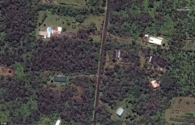 До и после: снимки со спутника, показывающие разрушительные последствия извержения Килауэа ynews, Килауэа, вулкан, гавайи, извержение вулкана, новости, стихийные бедствия, фото