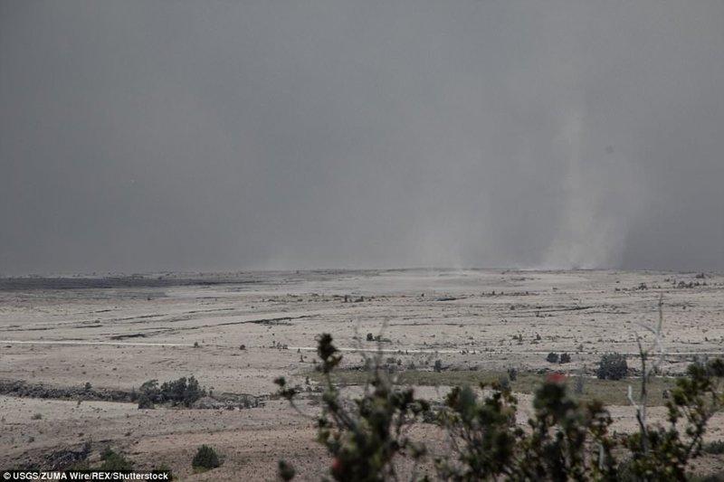 Пустыня Кау, покрытая пеплом от вулкана ynews, Килауэа, вулкан, гавайи, извержение вулкана, новости, стихийные бедствия, фото