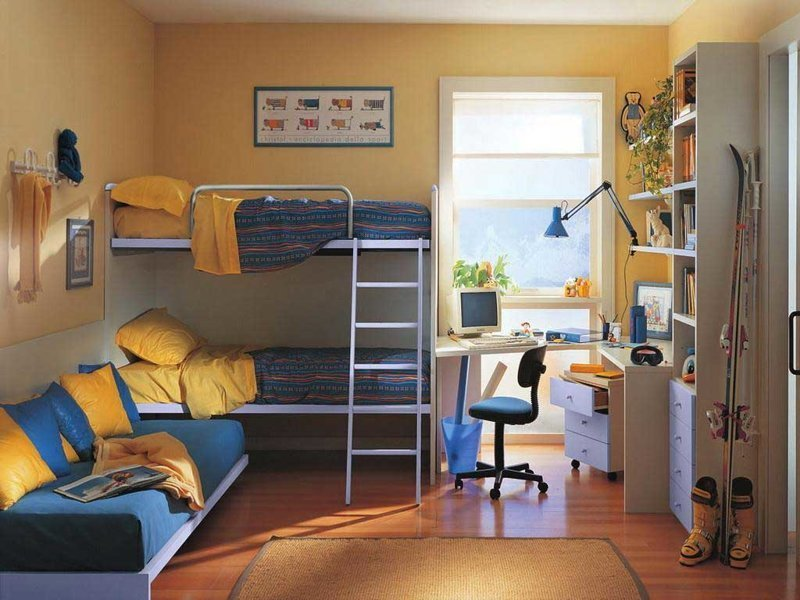 25 отличных идей как сделать крутую детскую даже в обычной «хрущёвке» дети, детская в хрущёвке, детская комната, идеи, интерьер