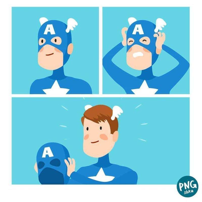 5. Капитан окрылён победой иллюстратор, комикс, прикол, художник, юмор