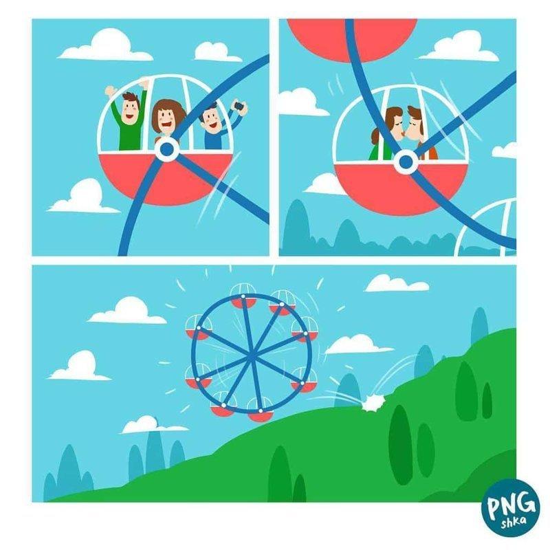 6. Покатаемся на колесе иллюстратор, комикс, прикол, художник, юмор