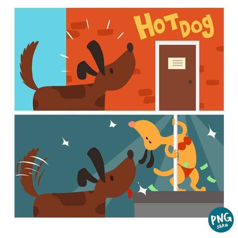3. Хот-дог иллюстратор, комикс, прикол, художник, юмор
