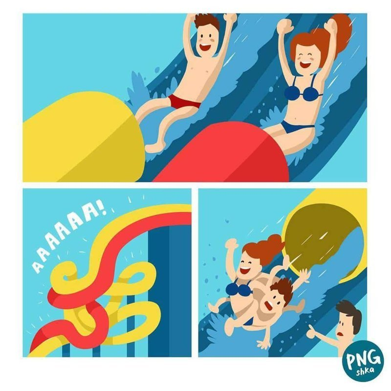 7. Аквапарк иллюстратор, комикс, прикол, художник, юмор