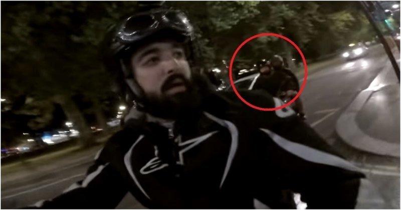 Мотоциклист из Англии заснял свою битву с вооруженными мотоугонщиками англия, видео, инцидент, кража, криминал, лондон, мотоцикл