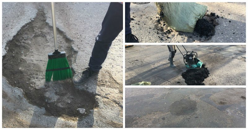 Псковичи своими силами отремонтировали дорогу - у властей претензий к горожанам нет псков, ремонт, так и живем, убитые дороги