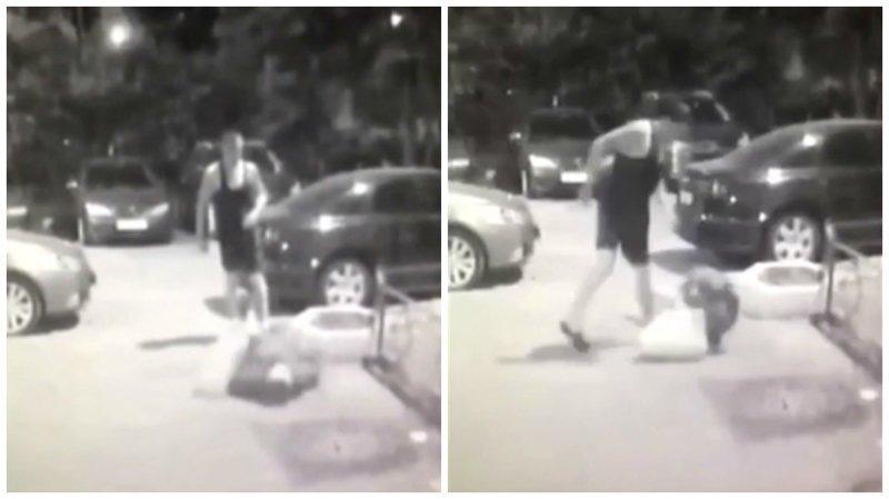 Парень напал на беспомощную пенсионерку, но камеры видеонаблюдения всё засняли ynews, бабуська, видео, москва, нападение, парень, ужас