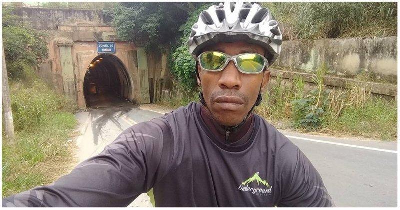 Решившие прокатиться по железнодорожному тоннелю велосипедисты чудом избежали гибели бразилия, велосипед, велосипедист, видео, поезд, спорт, экстрим
