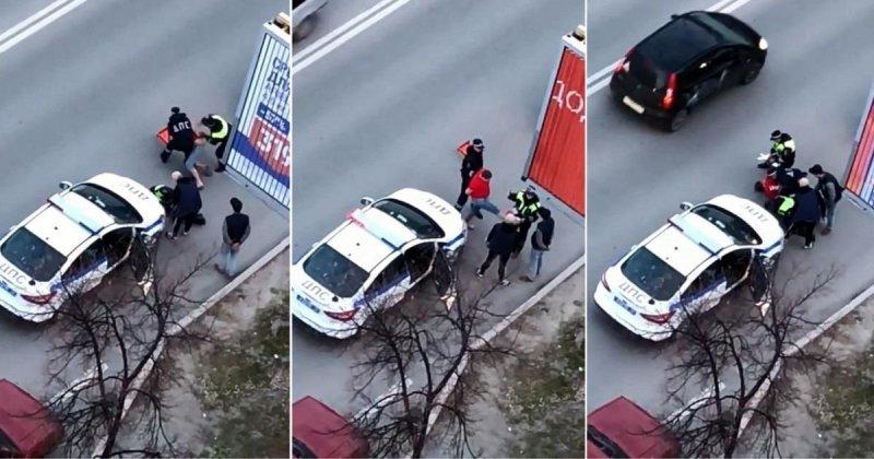 В Тюмени пьяный водитель без прав ударил ногой в пах инспектора авария, авто, быдло, видео, гибдд, дтп, нападение, пьяный за рулем