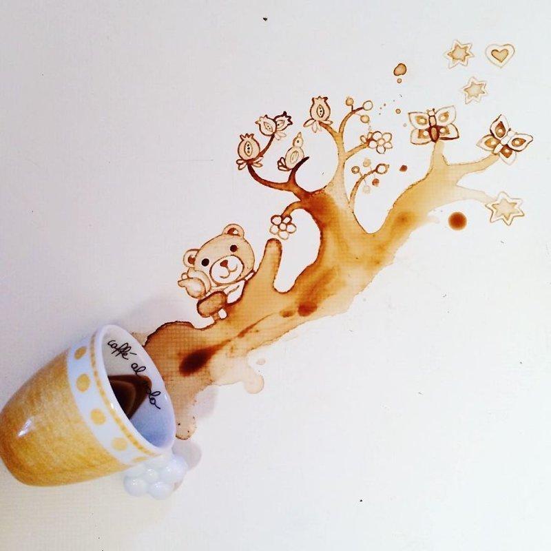17. интересное, кофе, красота, необычные, рисунки, фуд-арт, художница