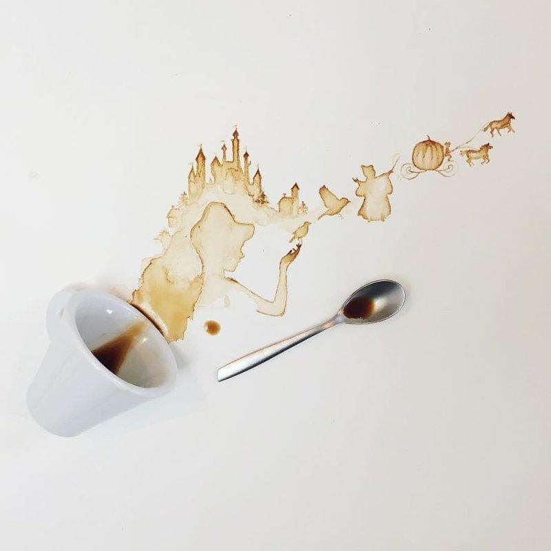 7. интересное, кофе, красота, необычные, рисунки, фуд-арт, художница