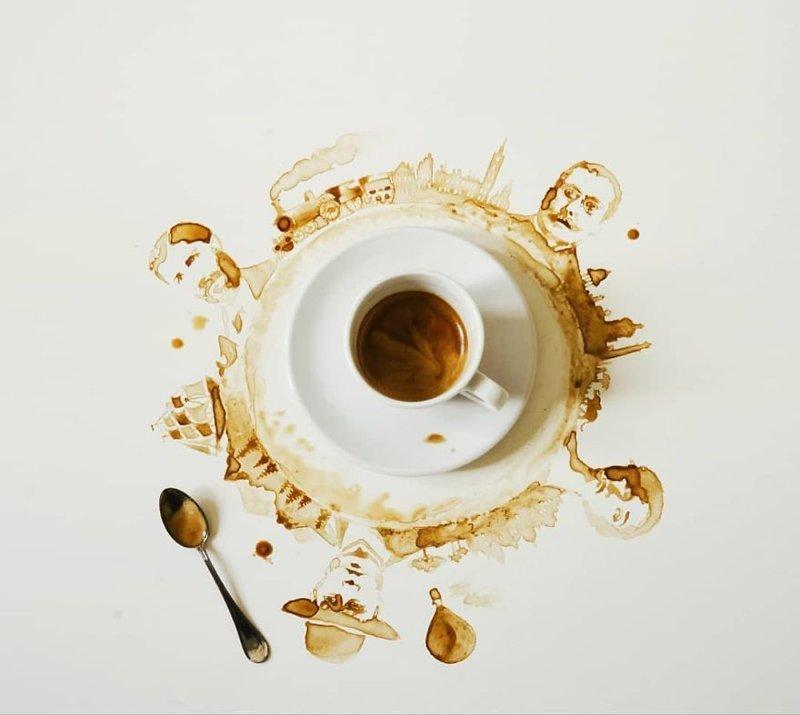 8. интересное, кофе, красота, необычные, рисунки, фуд-арт, художница