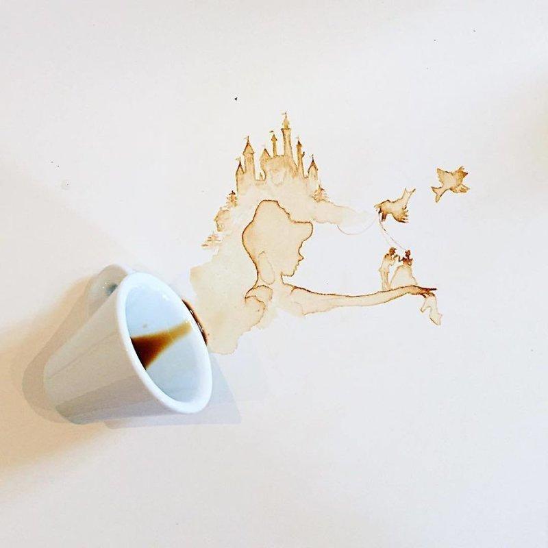 21. интересное, кофе, красота, необычные, рисунки, фуд-арт, художница