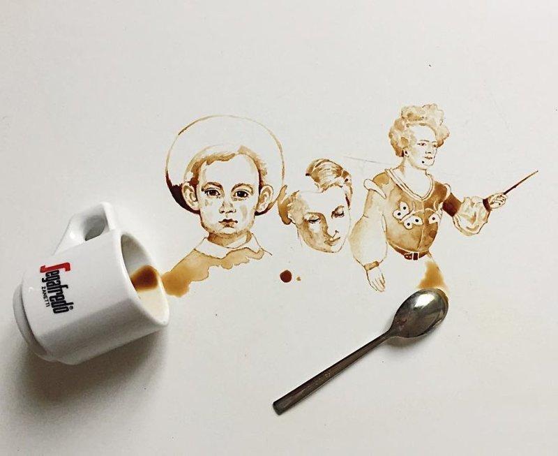 20. интересное, кофе, красота, необычные, рисунки, фуд-арт, художница