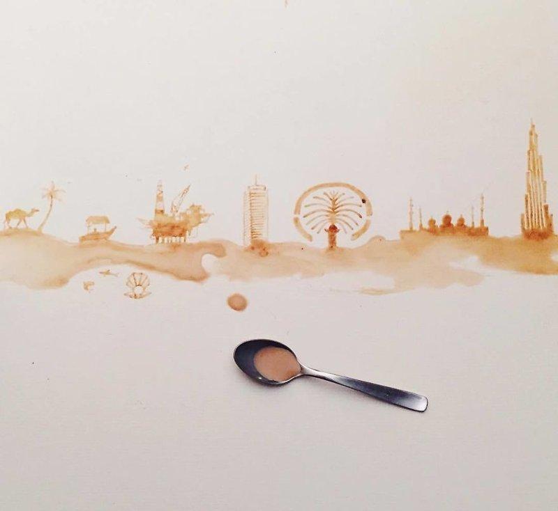 24. интересное, кофе, красота, необычные, рисунки, фуд-арт, художница