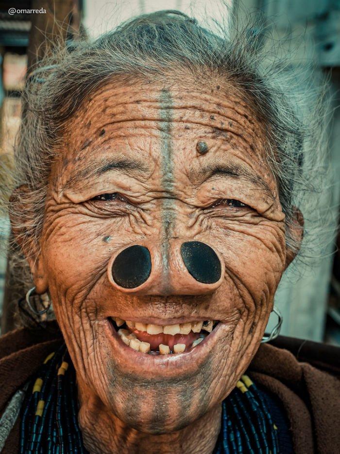 6. апатани, женщина, индия, народ, портрет, традиция, фотография, фотомир