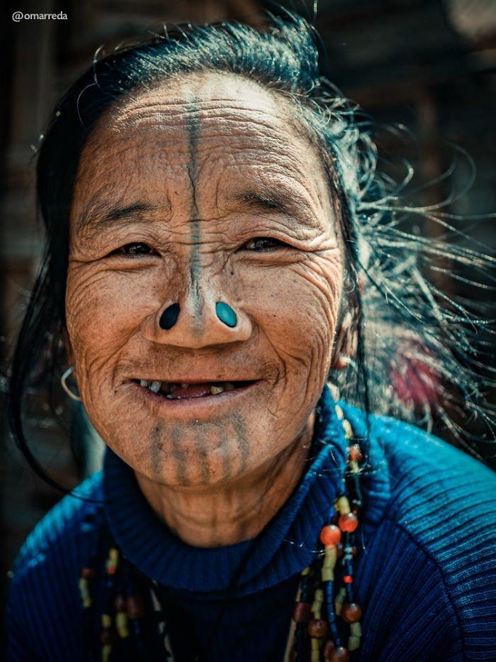 14. апатани, женщина, индия, народ, портрет, традиция, фотография, фотомир
