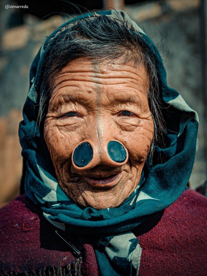 12. апатани, женщина, индия, народ, портрет, традиция, фотография, фотомир