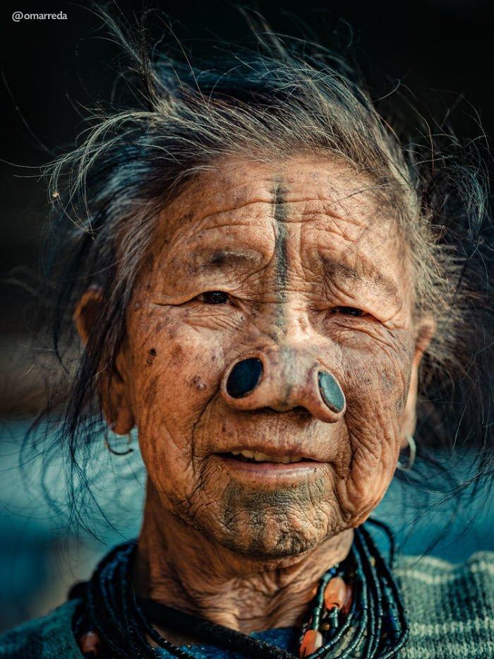 15. апатани, женщина, индия, народ, портрет, традиция, фотография, фотомир