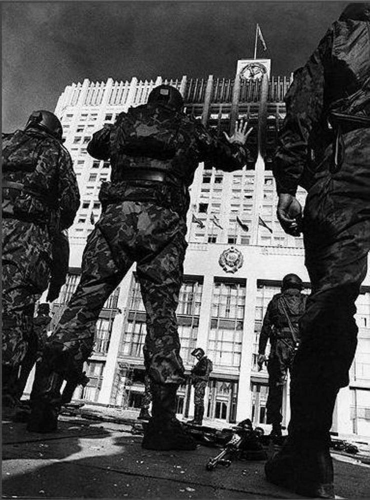 Атака на Белый дом, 1993 год 90-е годы, СССР, жизнь, ностальгия, фото