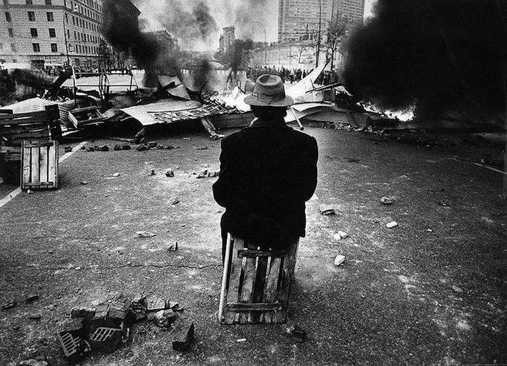 Расстрел здания Верховного Совета, 1993 год 90-е годы, СССР, жизнь, ностальгия, фото