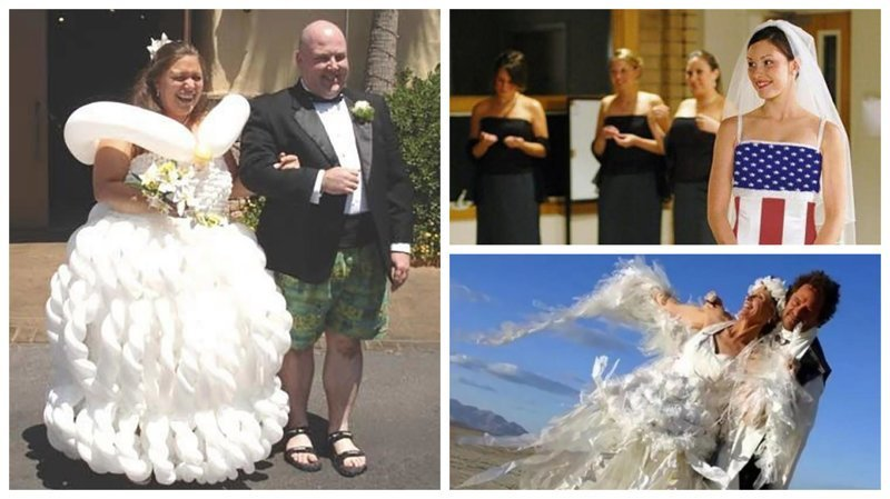 20 откровенно нелепых свадебных платьев Невеста креатив, наряд, невеста, нелепые, платье, свадебное платье, свадьба, странная одежда