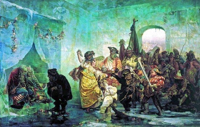 Свадьба в Ледяном доме. В. Якоби, 1878 год. история, россия, царица