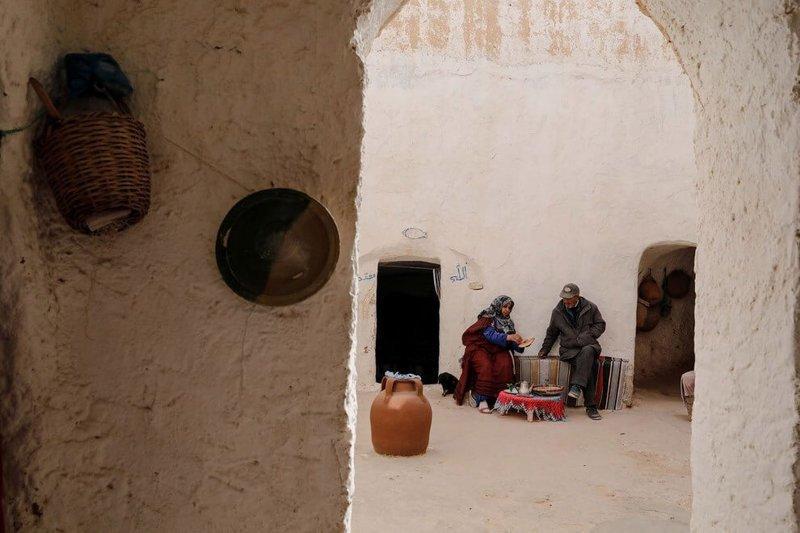 Подземные дома в Тунисе архитектура, познавательно, путешествия, тунис, фото