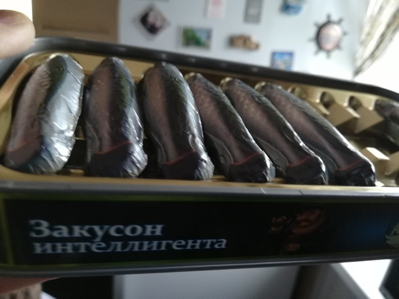 Подарок от друзей Консерва, корюшка, подарок, рыба, шоколад