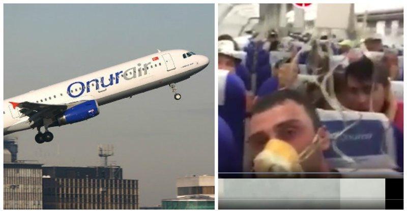 В Волгограде экстренно сел борт Airbus 321: видео OnurAir, ynews, разгерметизация салона, самолет