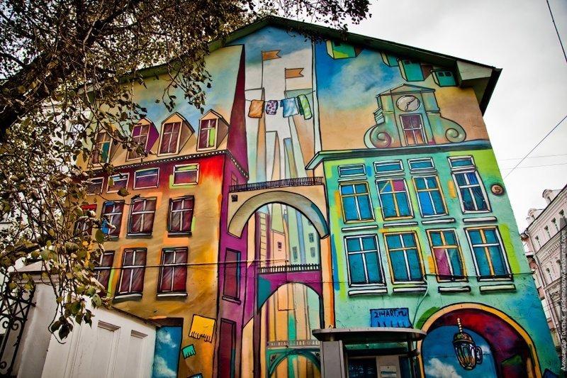 Сретенка, работа дуэта 214ART граффити, законопроект, москва, стрит-арт