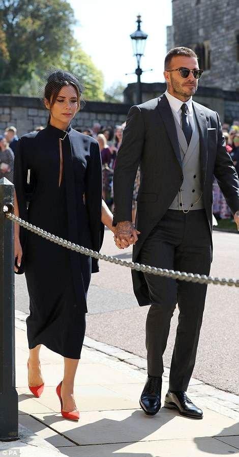 Дэвид и Виктория Бэкхем также были среди приглашенных  Megan, великобритания, гарри, знаменитости, принцесса, свадьба, фотография